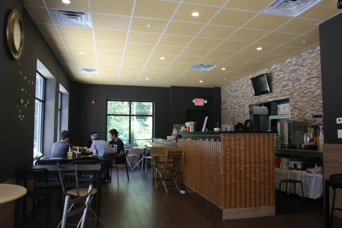 Tea more café opened in the spring, offering Storrs a wide-range of menu options. (Mingze Geng/The Daily Campus)