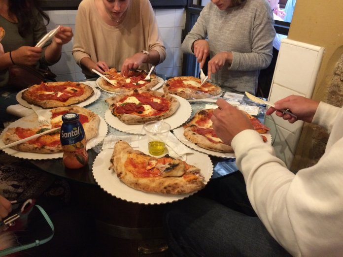A feast of pizza is always a good idea. (Sten Spinella/The Daily Campus)
