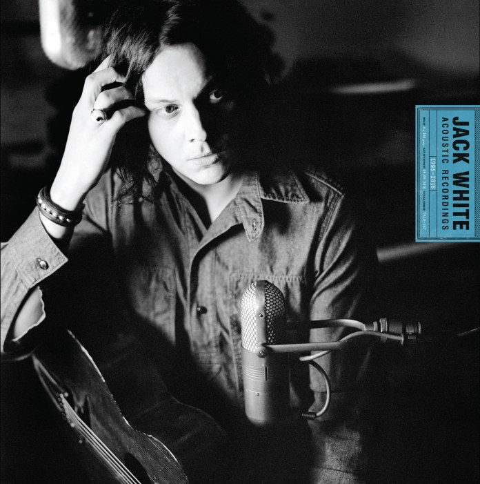 """This cover image released by Third Man Records/Columbia Records shows, """"Jack White Acoustic Recordings 1998 - 2016,"""" the latest release by Jack White. (Third Man Records, Columbia Records/AP)"""
