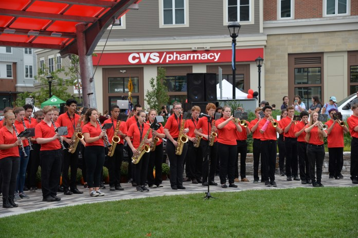 The E.O. Smith band performed at the Celebrate Mansfield festival, which lasted from noon to 4 p.m. on Sunday, Sept. 18 in Storrs center.(Amar Batra/The Daily Campus)