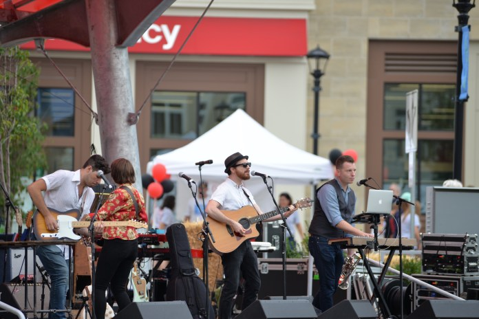 Air Traffic Controller, a band from Boston, Massachusetts, performs at the Celebrate Mansfield fesitval on Sept. 18, 2016.(Amar Batra/The Daily Campus)