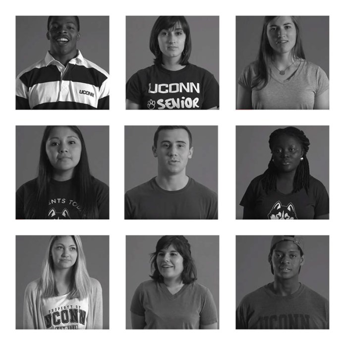 """#WeAreU is a campaign to address """"civility and respect"""" on campus in an attempt to increase inclusion for all ethnicities and groups on campus. (Graphic by The Daily Campus via WeAreU campaign)"""