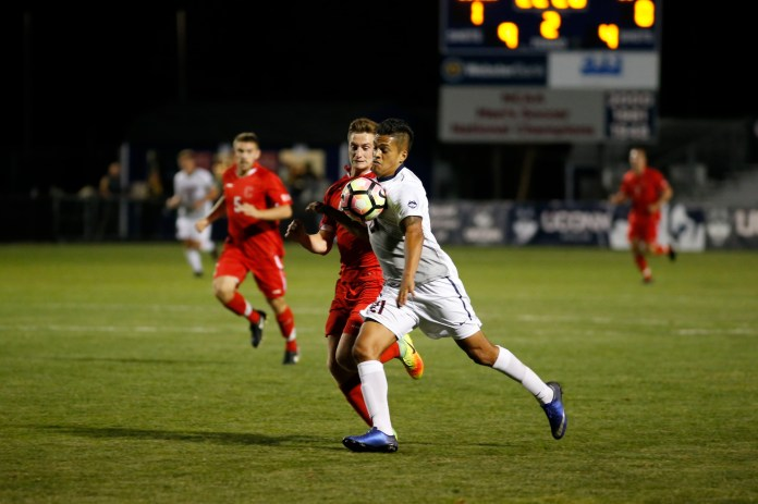 UConn men's soccer team defeats Cornell 2-0 on Monday, Sept. 5, 2016 at home at Morrone Stadium. (Tyler Benton/The Daily Campus)