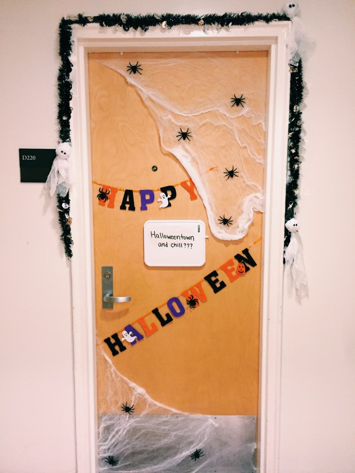 Dorm room doors are not known for being stylish, but you can change that by picking up supplies at nearby stores.(Angie DeRose/The Daily Campus)