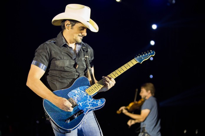 Paisley swtiched his guitars at least five times during his set at Gampel on Friday, Oct. 7. (Jackson Haigis/The Daily Campus)
