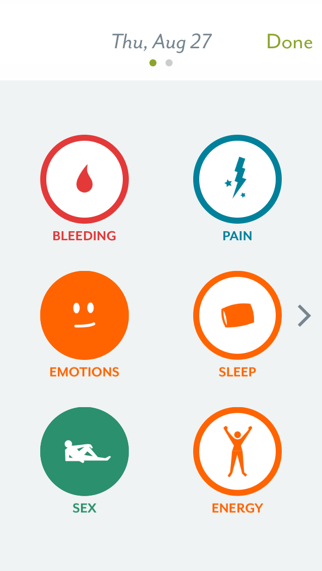 Clue makes tracking period cycles, and other personal information including bleeding, pain, emotions, sleep, sex and energy, simple and private. (Courtesy/Clue)