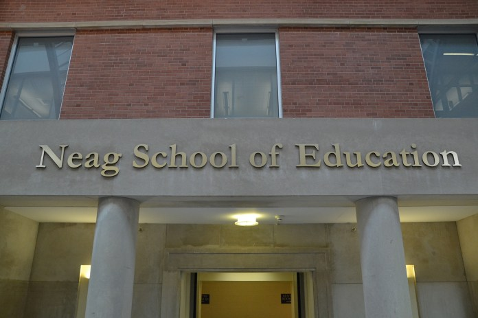 The Gentry building serves as the home of the Neag School of Education. UConn has been chosen to lead a $47 million initiative to improve university principal preparation programs.(Amar Batra/The Daily Campus)