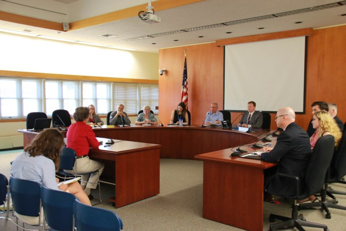 The Town/University Relations Committee holds a meeting on Tuesday, Oct. 18, 2016 at Town Hall. The committee addressed new business about the student code for off-campus conduct. (Yuwei Zhao/The Daily Campus)