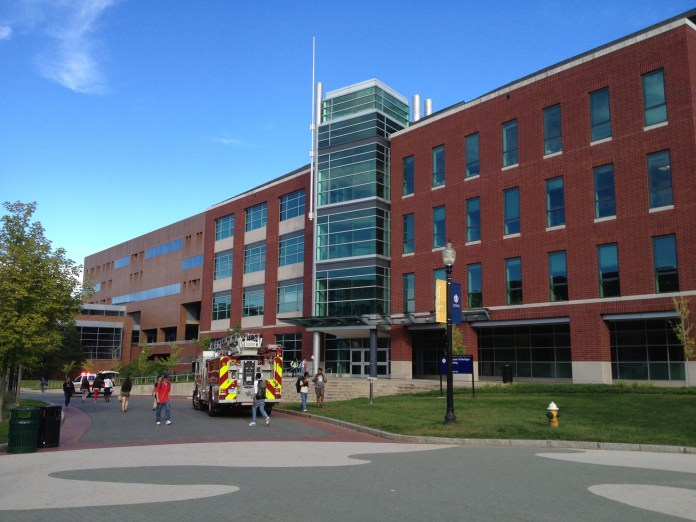An electrical malfunction in a piece of research equipment at the Information Technology Engineering building led to a fire alarm and then evacuation. UConn spokeswoman Stephanie Reitz said there was no actual fire.(The Daily Campus)