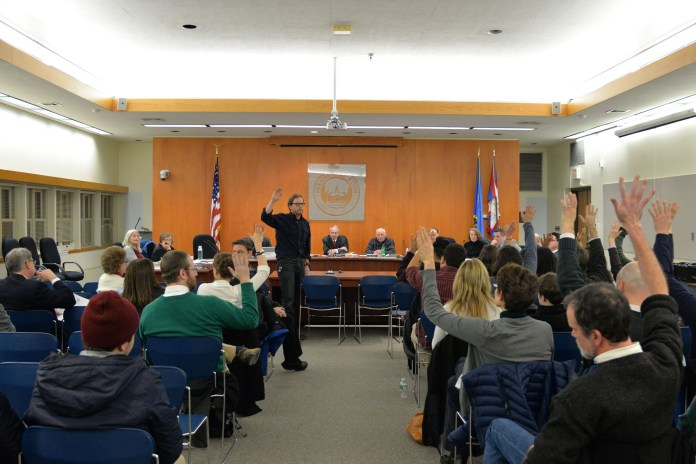 Mayor Paul Shapiro said the council voted to add the discussion of sanctuary city process to agenda for the meeting on Dec. 12 after a number of impassioned speakers strongly supported the idea at their Nov. 28 meeting. (Amar Batra/The Daily Campus)