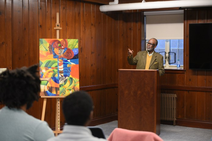 Stanwyck Cromwell talks about his understanding of Caribbean art. Stanwyck is a Guyanese-born, second generation artist, and an adjunct professor who has spent the vast amount of his adult artistic life in the United States of America. (Zhelun Lang)