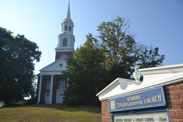 Sten's conversation with a leader of a faith group at UConn about a recent event quickly divulged many other topics. (Bailey Wright/The Daily Campus)
