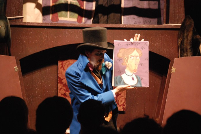 The Ballard Institute and Museum of Puppetry presents Doc Foster's Twisted Tales. The performance included three short stories, actors, and audience interaction. (Christine Pan/The Daily Campus)