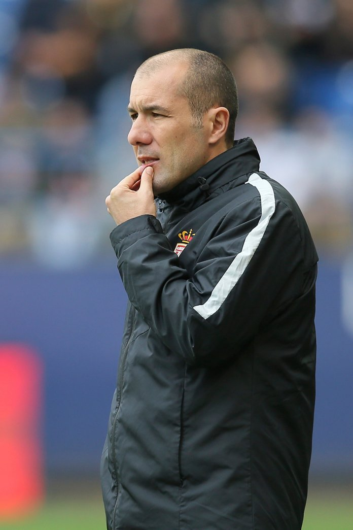 Monaco's headcoach Leonardo Jardim looks on during his French League One soccer match against Caen, in Caen, north western France, Sunday, March 19, 2017. (AP Photo/David Vincent)