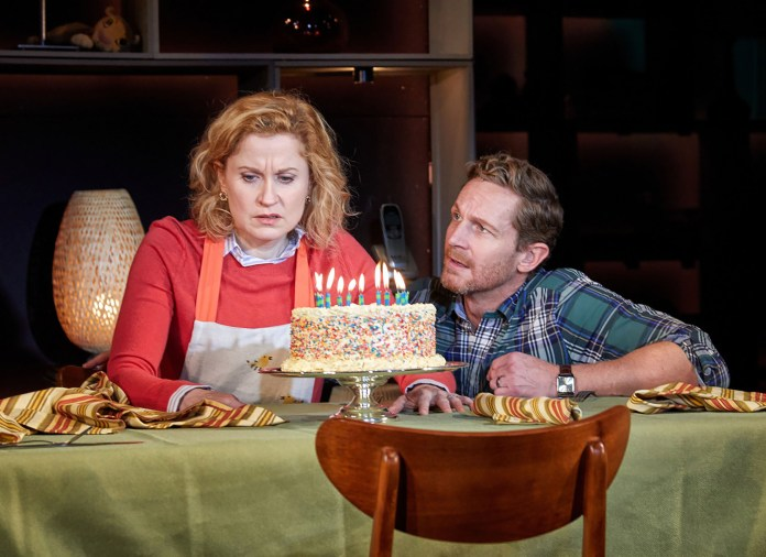 """Christiane Noll and David Harris in TheatreWorks musical, """"Next to Normal"""". (photo from TheatreWorks)"""