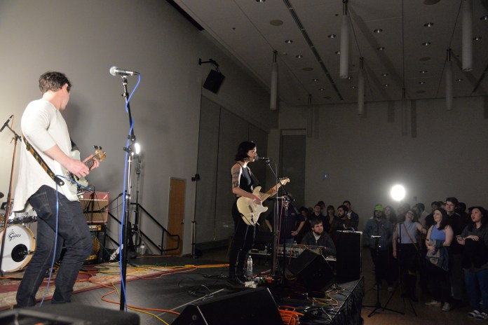Japanese Breakfast performs during the 2017 Spring Fling hosted by WHUS in a packed Student Union Ballroom on Saturday, April 8, 2017. (Amar Batra/The Daily Campus)