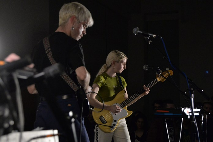 Porches plays for a packed Student Union Ballroom on Saturday, April 8, 2017. (Amar Batra/The Daily Campus)