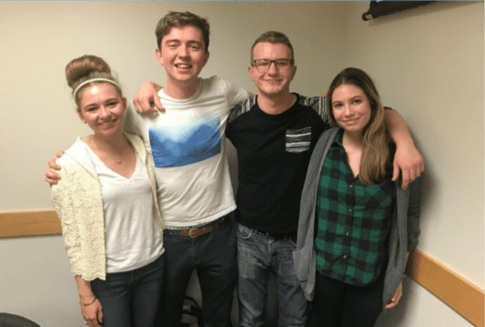 """UConnPIRG's 2017-18 chair will be Casey Lambert (far right), a fourth-semester environmental science major who currently serves as UConnPIRG secretary and """"Ban the Bottle"""" campaign coordinator. (Courtesy/Casey Lambert)"""
