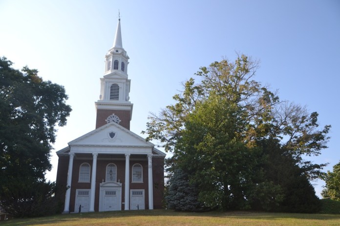 The Storrs Congregational Church, located on North Eagleville Road will offer a prayer vigil from noon to 3 p.m. today for Good Friday.(Bailey Wright/The Daily Campus)