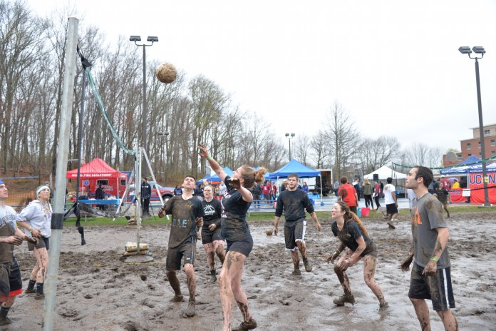Students participate in UConn's annual Oozeball event on the Saturday over Spring Weekend. Also the student leaders lost to the faculty. (Amar Batra/The Daily Campus)