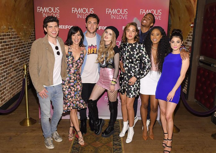 """Cast members of Freeform's newest series, """"Famous in Love"""". (Famous in Love/Facebook)"""