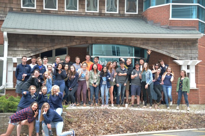 The Daily Campus 2016-2017 staff outside the Daily Campus building. (Amar Batra/The Daily Campus)