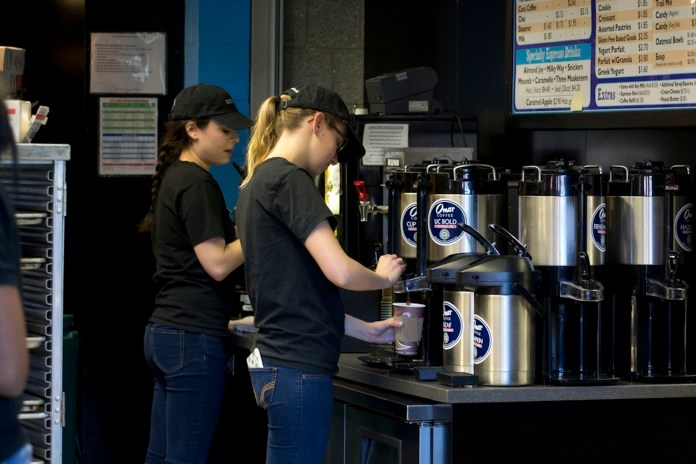 Peet's Coffee has replaced Bookworms Café in Homer Babbidge Library.They offer a whole new menu and include coffee that is part of a Rainforest Alliance certified brand.(Rebecca Newman/Daily Campus)