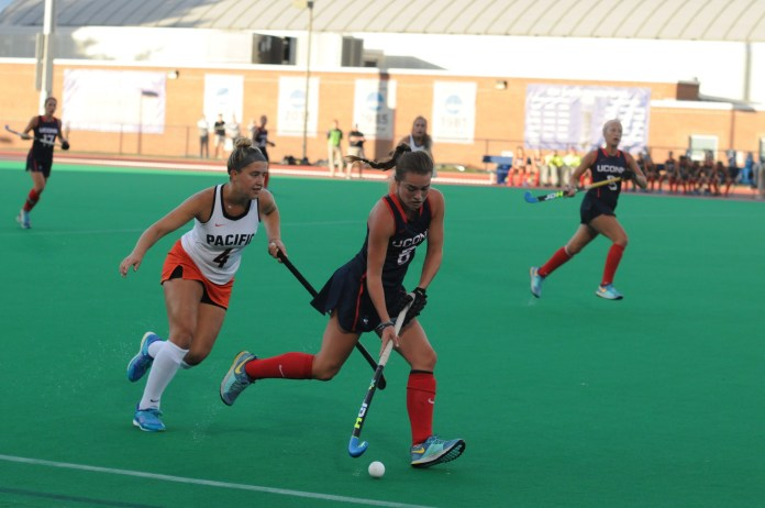 The Huskies went head to head against Pacific on Friday September 8. Uconn rallied to a 6-2 victory against the Tigers. (Jon Sammis/The Daily Campus)