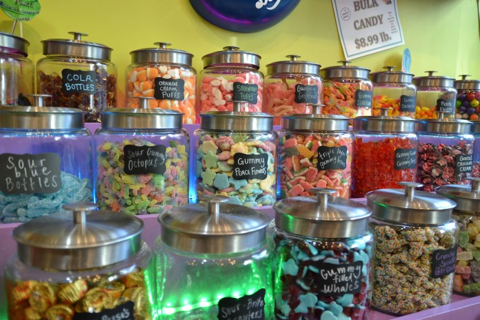Candy in Sweet Emotions, located in Storrs Center, is a stones throw from many UConn dorms. (Amar Batra/The Daily Campus)