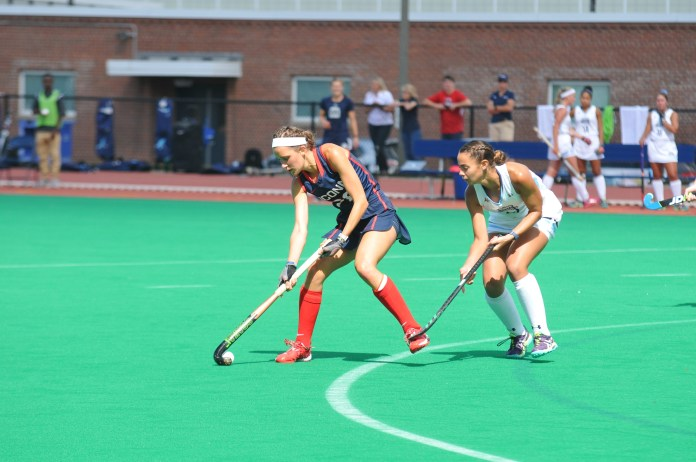 Charlotte Veitner and the No. 1 UConn Field Hockey team are still undefeated. (Jon Sammis/The Daily Campus)