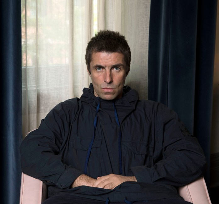 """In this July 28, 2017 photo,Liam Gallagher poses for a portrait to promote his latest album, """"As You Were,"""" in New York. (Photo by Amy Sussman/Invision/AP)"""