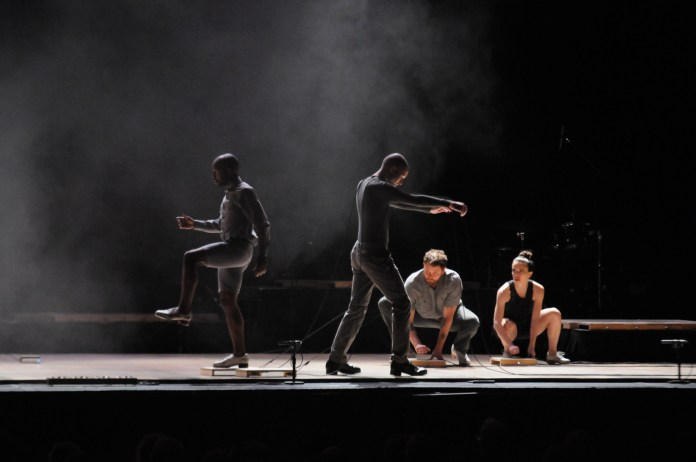 Dorrance Dance, an Electronic Tap Music specializing tap group from New York, performed at Jorgensen on Wednesday.(Natalija Marosz/The Daily Campus)