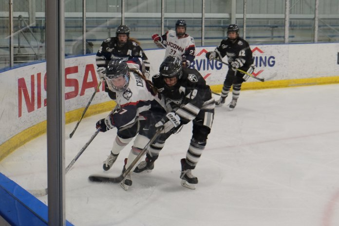 UConn WHOC tied and lost to Providence last weekend, but will look for their first conference win against UNH this weekend. (Jon Sammis/The Daily Campus)