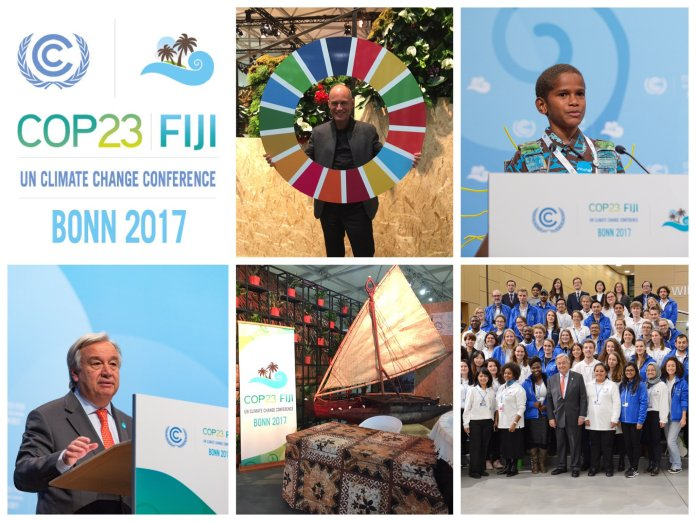 There was a presentation by the U.S. delegates advocating clean coal, Wanjiku Gatheru, a third-semester environmental studies major who attended the climate meeting, said. (COP23/Twitter)