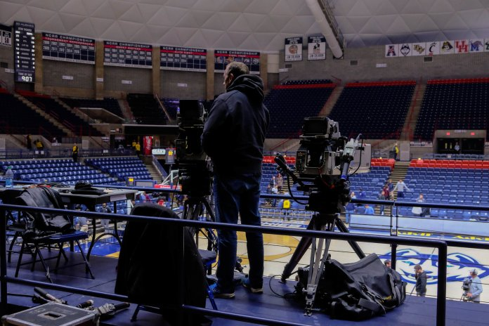 In the national spotlight, every game has thousands of eyes on the court. Television crews set up and break down to show the rest of the world what we are capable of.