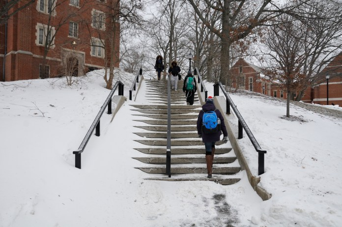 Although snowstorms seem to be falling on Wednesdays this year, it is purely by coincidence. (File Photo/The Daily Campus)