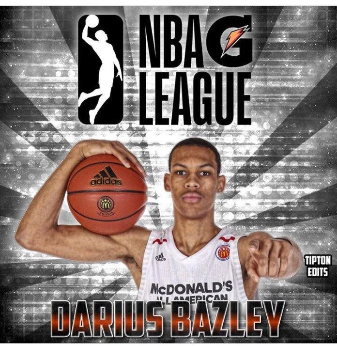 Bazley's move, apparently being considered by other top prospects less than enamored with school and amateurism in the NCAA, could be meaningless if the NBA or NCAA implement major reform. (Twitter/@BazleyDarius)