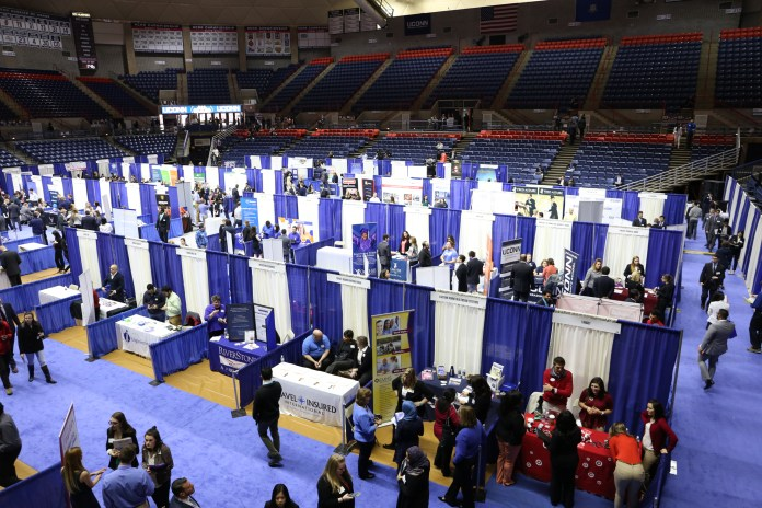 The UConn career fair allows students to apply for internships and jobs for their future. (File Photo/The Daily Campus)