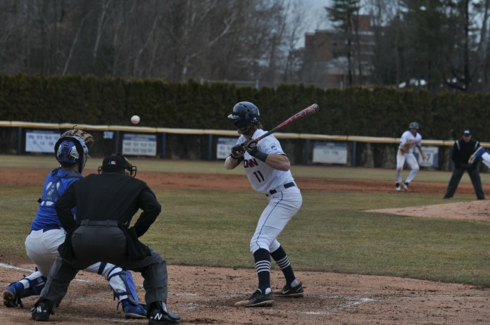 UConn and Hartford step back on the field for the double header on Friday Mar. 31. Pitcher Chase Gardner retired 14 batters in a row, leading to a Huskies victory, 1-0 (Jon Sammis/The Daily Campus)