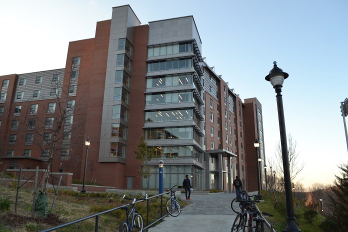 A fake letter from the staff of Werth Tower asked students to refrain from masturbating in dormitory showers due to clogging. (Olivia Stenger/The Daily Campus)