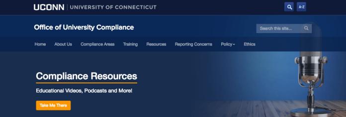 (Screenshot via compliance.uconn.edu