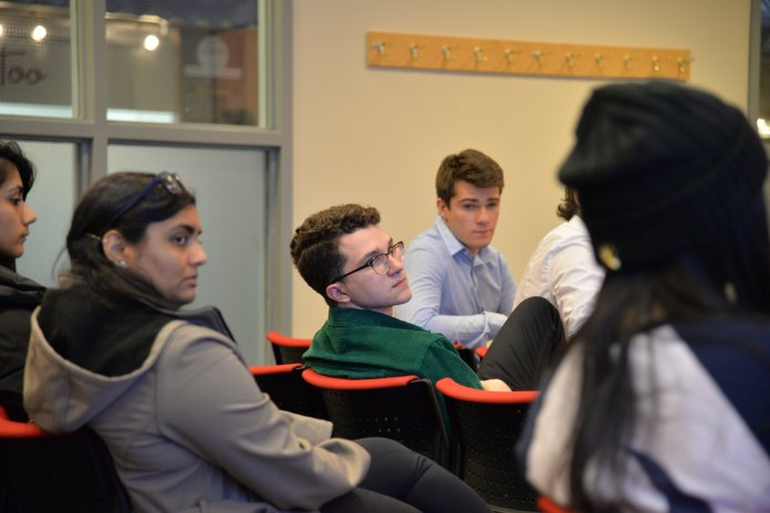 USG holds a caucus for new members in the Student Union. (Amar Batra/The Daily Campus)