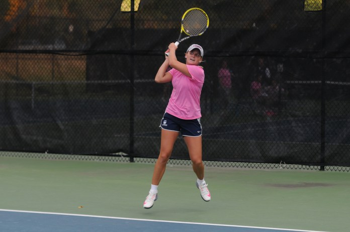 UConn Tennis in action (Amar Batra/The Daily Campus)