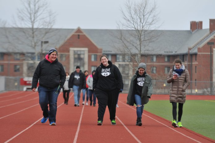 The BRAVE Girls Leadership teams up with H20 For Life to host a 5K around E.O. Smith High School track Sunday afternoon to raise awareness of the increasing water crisis the world is facing. Over 2.5 billion people lack access to proper sanitation resources, according to BRAVE. (Nicholas Hampton/The Daily Campus)