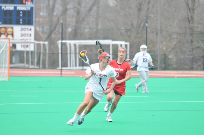 The UConn women's lacrosse team will travel to Milwaukee on Saturday to take on Marquette in its final game of the regular season. (Jon Sammis/The Daily Campus)
