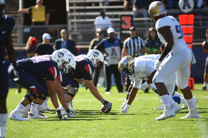 Randy Edsall and the UConn Huskies are adding to the game day experience in East Hartford. (Charlotte Lao/The Daily Campus)
