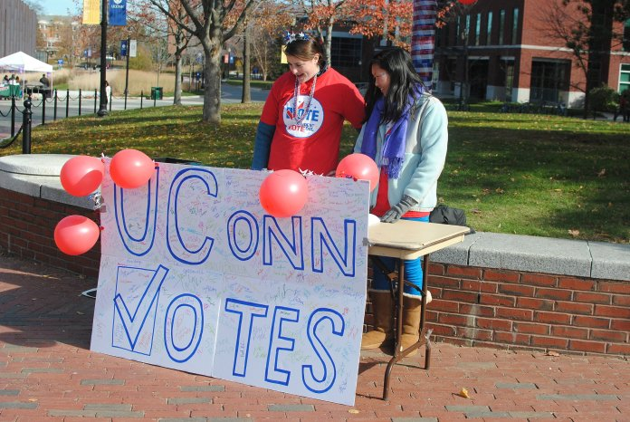 Dodson said UConnPIRG and USG have the responsibility to protect students' rights to vote and make voting as easy as possible. (File/The Daily Campus)