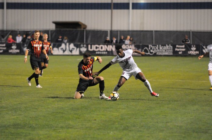 The No. 18 Huskies dropped two games to ranked opponents over the weekend. (File photo/The Daily Campus)