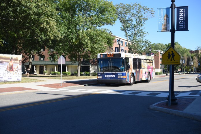 The new Blue Line was designed to service students in areas surrounding Charter Oak, Busby and C-Lot (FIle Photo/The Daily Campus)