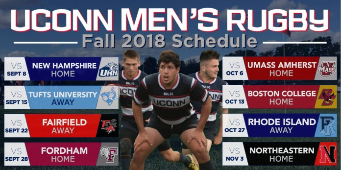 The fall slate for the rugby team (@uconnmensrugby)